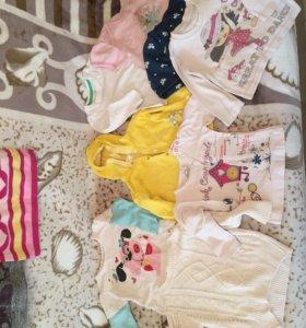 Одежда на девочку 6-12 мес(13шт)