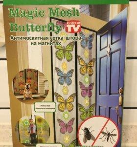 Москитная штора-сетка на дверь с магнитами