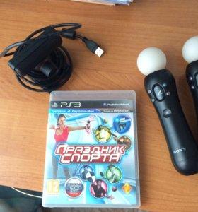 Move PS3+игра «Праздник спорта»