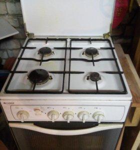 газовая плита с духовкой indesit