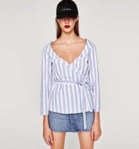 Новая блузка. Хлопок. Фирма Zara. Размер хл( л)