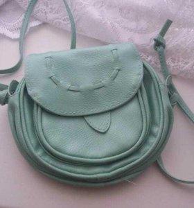 Мини - сумочка мятного цвета