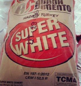 Белый цемент в наличии