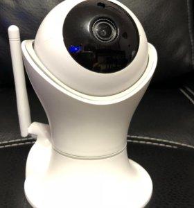 Камера видеонаблюдения поворотная ip PTZ микрофон