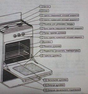 Плита газовая бытовая двухгорелочная с духовкой