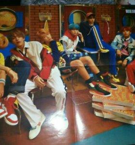 Плакат BTS Большой Двухсторонний