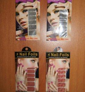 Наклейки для ногтей / маникюра 4 шт.
