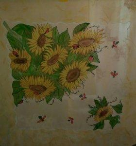 Платки и шарфы ручная роспись