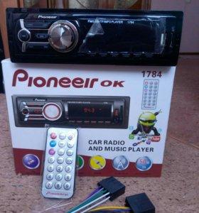 Магнитола USB,AUX,SD card,новая
