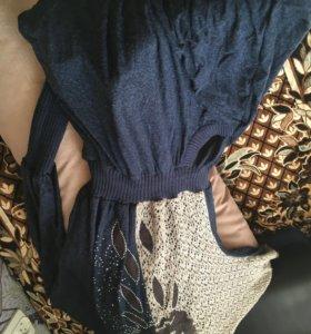 Длинное мягкое платье