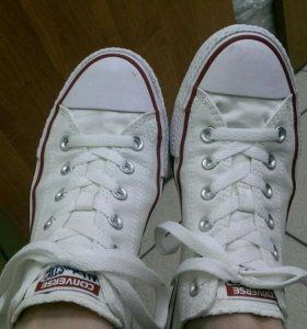 Кеды Converse белые оригинал 41,5 р-р (26,5 см)