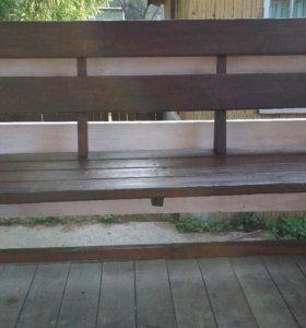 Садовые скамейки, кресла, столы, ставни