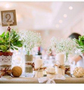 Оформление свадьбы в стиле Рустик. (ЭКО стиль)