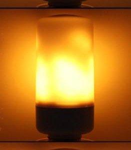 Лампочка имитация огня