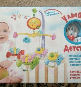 Музыкальная карусель для малыша
