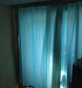 Продам новые шторы голубые