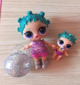 Куклы Lol Космик Квин ультра-редкая и малышка