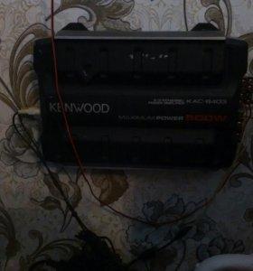 Уселитель и сабвуфер с проводами