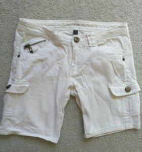 Шорты белые джинс