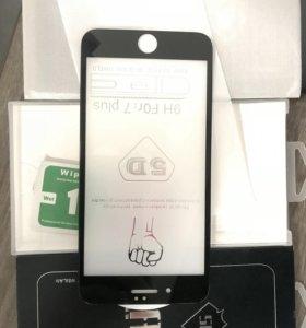 Защитное стекло на IPhone 7+ чёрный