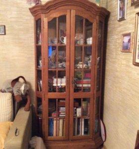 Шкафы витринные и тумба из дуба Ноктюрн Беларусь