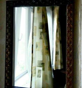"""Зеркало навесное в художественной раме """"под бронзу"""