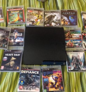 PlayStation 3 Slim+20 игр,+джойстик+1 терабайт