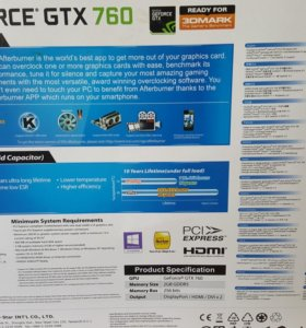 Geforce Gtx 760 видеокарта
