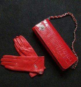 Перчатки и сумочка