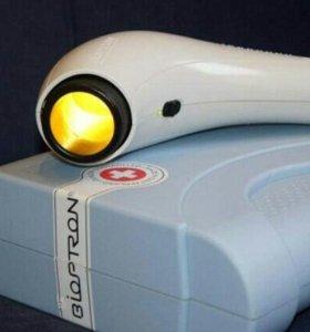 Биоптрон с цветными стеклами и напольной стойкой