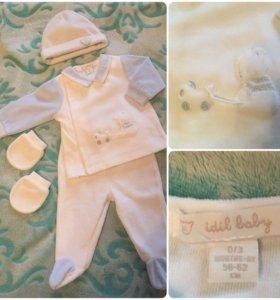 Велюровый костюм idil baby 62р новый