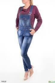 Новый джинсовый комбезик