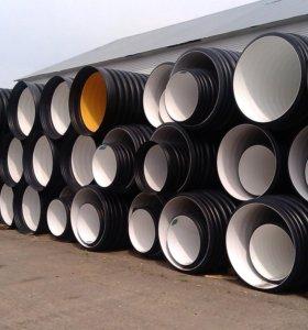 Трубы гофрированные для канализации SN8/SN10/SN16