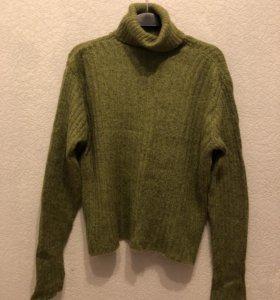Свитер зеленый шерстяной женский