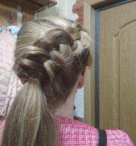 Плетение кос и создание прически