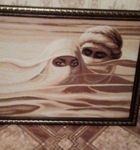 Картина из габелена.
