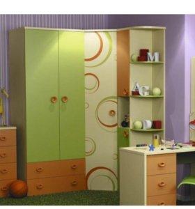 Шкаф угловой + стеллаж детская мебель