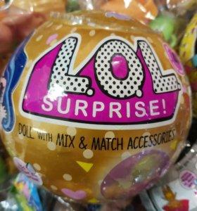 Любимые шары сюрпризы с куколкой LOL