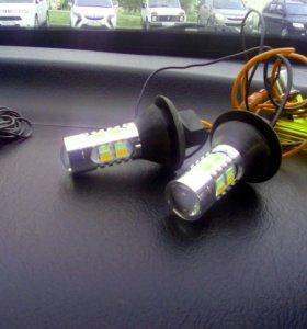 Лампы DRL дхо+поворот