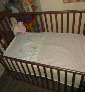 Детская кроватка Papaloni Джованни качалка + матра