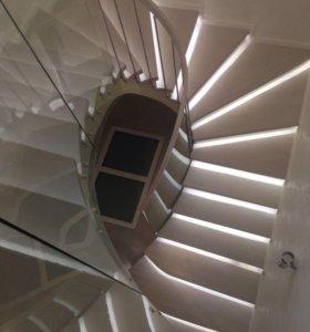 Бетонные монолитные лестницы изготовление по месту