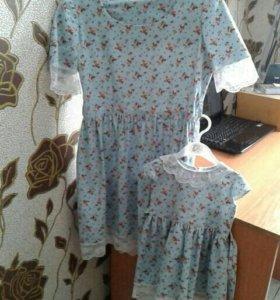 Платья для мамы и дочи