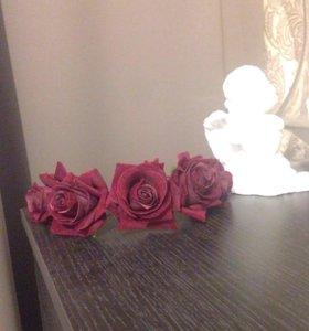 Ободок с розами ручной работы