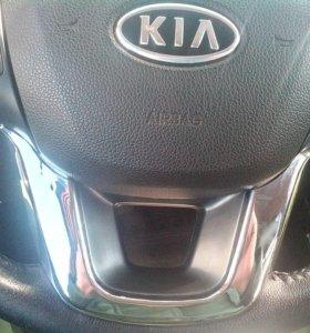 Накладка на руль kia Rio хром из пластика