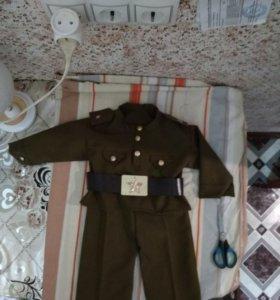 Военный костюм для мальчика без ремня с банданой