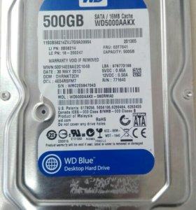 Жесткий диск (HDD WD 500 Gb)