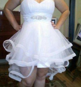 Свадебное платье, можно как выпускное