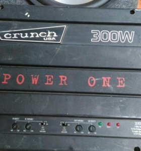 Усилитель crunch 300W. и саб