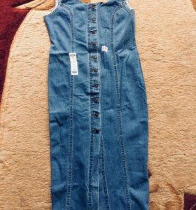Новые Сарафаны джинсовые