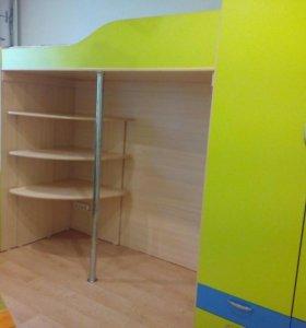 Детская комната: Кровать со вторым ярусом + шкаф